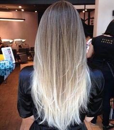 Platinum blonde ombré...bring the blonde up higher