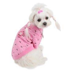 Camiseta para Perro Pup-a-Dot Rosa - KUKA´S WORLD - Ropa y Accesorios exclusivos para Perros. Moda Canina de Diseño y Artículos para Mascotas con estilo. Designer Dog Clothes and Luxury Accessories for Pets! http://www.kukasworld.com/