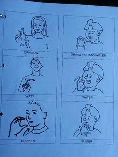 Een droom van mij is dat ik graag gebarentaal zou willen leren. Sign Language, Body Language, Free Time, Learning, Kids, Runes, Young Children, Boys, Time Out