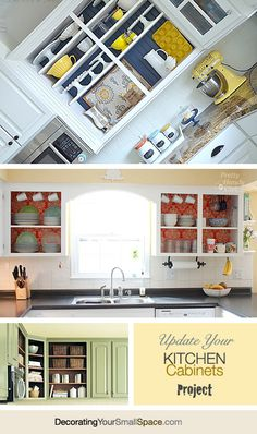 DIY Project: Update your Kitchen Cabinets by Removing the Doors!