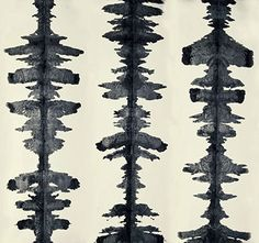 Hand Painted Ink Blot Wallpaper by Porter Teleo Wallpapers Textile Patterns, Color Patterns, Print Patterns, Textiles, Geometric Patterns, Textile Art, New England Homes, Of Wallpaper, Hand Painted Wallpaper
