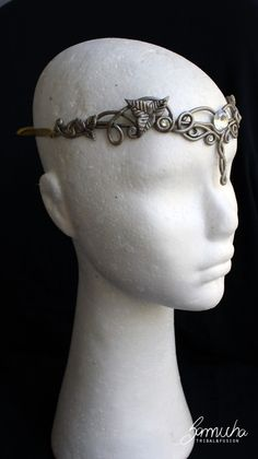 Tiara estilo celta 4 dourada, preta e prata dança tribal fusion. Celtic, lord