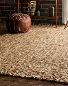 Bohemian fringe edges lend a neutral, textured jute look that looks great with any style. Jute rugs are an eco-friendly, natural material that biodegrade naturally in the earth after