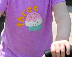 Girl's Birthday Shirt, 1st 2nd 3rd 4th Cupcake Birthday Outfit, Personalized Toddler T-Shirt, Felt Applique, Hipster Baby, Cake Smash Tee