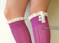 lace trim boot socks by Grace and Lace Co