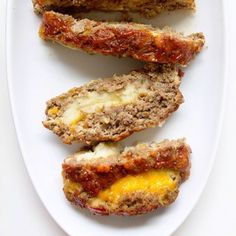 Stuffed Meatloaf with Mash Potatoes via Real Food by Dad Elk Recipes, Bacon Recipes, Meatloaf Recipes, Real Food Recipes, Cooking Recipes, Yummy Food, Stuffed Meatloaf, Easy Meatloaf, Beef Dishes