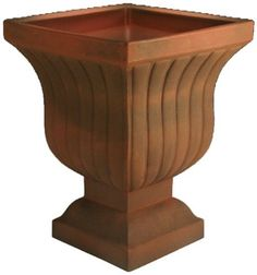 Instant Pots & Plants Ltd Crescent Garden Leyla Urn Planter in Rust Lawn And Garden, Garden Pots, Fiberglass Planters, Urn Planters, Potted Plants, Table, Resin, Container, Furniture