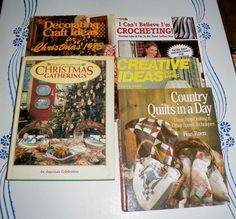 Mixed LOT OF 5 Hard Cover Paperback QUILTING Crocheting Christmas Craft BOOKS