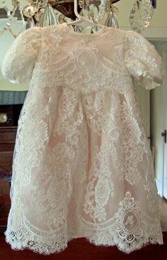 Making Alencon lace seams McCall's 6221 Baptism dress