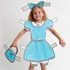 Paper Doll Costume for Halloween, familyfun: Easy DIY!  -- I designed this - woot woot! (Heather Mann)