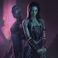 Gamora and Nebula  - guardians-of-the-galaxy Fan Art