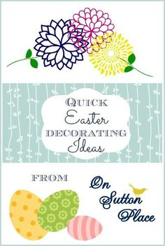 Quick Easter Decorating Ideas