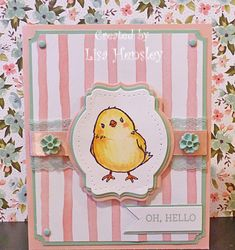 This little chick from Honeycomb Happiness is so cute!  I couldn't wait to do a project using this stamp.