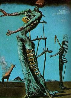 Salvador Dalí - The Burning Giraffe.  This is one of my favorite Dalí paintings.