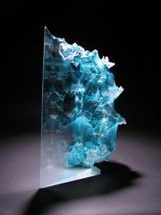 Art アート искусство arte kunst sculpture 彫刻 skulptur скульптура scultura escultura cast glass sculpture by colin reid Sculpture Textile, Sculpture Art, Resin Crafts, Resin Art, Mosaic Glass, Fused Glass, Blown Glass, Glass Beads, Cast Glass