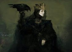 Concept art for Queen Ravenna's look in Snow White and the Huntsman. Costume design by Colleen Atwood. Dark Fantasy, Fantasy Queen, Fantasy Girl, Reine Art, Queen Ravenna, Dark Queen, Queen Art, Weird Creatures, Art Graphique