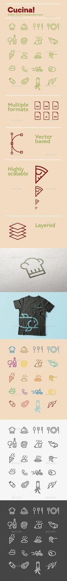 Cucina! / Italian food & restaurant icons