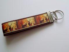 New Handmade Deer Buck Autumn  Key Fob Wristlet Key chain Wrist Hand Lanyard  #Unbranded