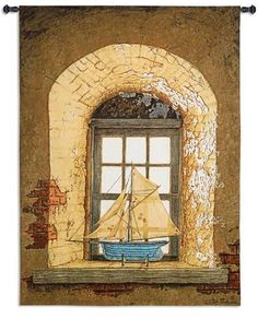 Fine Art Tapestries Bob Timberlake Lighthouse  Tapesrty Wall Hanging...