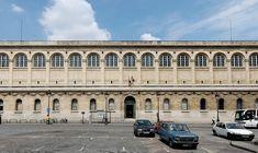 The Bibliothèque Sainte-Geneviève (1838-1850) in Paris. Architect: Henri Labrouste.