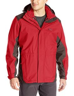 Jack Wolfskin Mens Amply 3in1 Jacket 3XLarge Indian Red >>> You can get additional details at the image link.