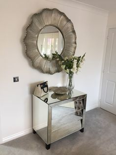 Mirrored drawers with feature mirror greys