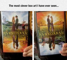 THAT'S SO COOL!!!!!! Princess Bride box art same upside down and right side up.