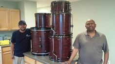 1 set done! Congrats to my Daddy (James Pierce) & my brother Armando. Sherwood Percussion Instruments is up & running...2014 is OUR year!