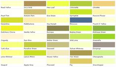 Pratt and Lambert Colors - House Paint Color - Chart, Chip, Sample, Swatch, Palette, Color Charts - Exterior, Interior, Wall paints