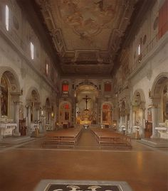 Church and Last Supper of Ognissanti - Florence. Неф.