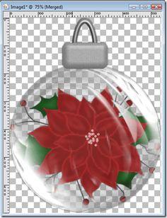 Christmas ornaments in PaintShop (PSP)