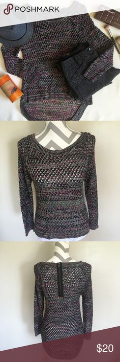 Allen B multi-color sweater This sweater looks amazing with leggings worn only a few times. 85% acrylic 15%rayon. Allen B By Allen Schwarts Sweaters Crew & Scoop Necks