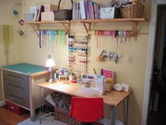 Definitely need a wrapping/sewing/mending station