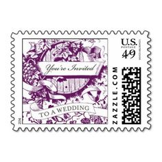 Wedding Wine Barrel Postage Stamps