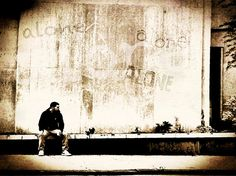 Alone by John Mallon Iphoneography, via Flickr | #streetscene #people #man #architecture #iphoneography