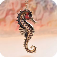 Wholesale Product Snapshot Product name is Hot &Hippocampal necklace Europe and the United States to restore ancient ways element sweater chain + Free Shipping#B78