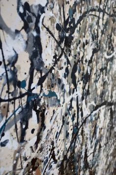 Up close and personal with a jackson pollock!