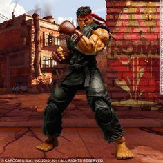 Super Street Fighter IV Evil Ryu Black Variant Play Arts Kai Action Figure @ niftywarehouse.com