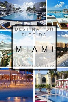 Looking for a great vacation at a luxury resort in Miami? Here's our Top 50 list in our luxury resort Miami category with video on family, spa, golf and others. Best Resorts, Vacation Resorts, Florida Vacation, Florida Travel, Vacation Trips, Best Hotels, Vacation Ideas, Amazing Hotels, Luxury Resorts
