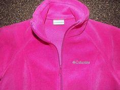 Columbia Fleece zip up jacket womens size Small, Pink, EUC #Columbia #BasicJacket #Casual
