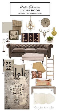0e76ed21dc How to Create a Rustic Bohemian Living Room  Source List   Inspiration   (Thoughts from Alice)