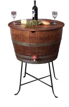 Bistro Barrel Cooler - Bistro Barrel Cooler - Made from Wine Barrels (Available in 8 Finishes) Price: $549.00    link:
