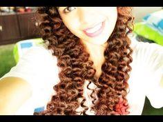 Straw Curls Method 5 No heat Spiral Curls Plus an Update