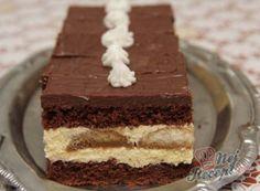 Luxusní zákusek DALMATIN   NejRecept.cz No Bake Cake, Vanilla Cake, Nutella, Tiramisu, Deserts, Food And Drink, Sweets, Cookies, Baking