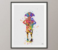 Dobby Harry Potter Watercolor Art Print Nursery Decor
