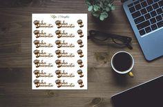 Kahvimaanantai tarrat take away mukit tarroja kalenteriin