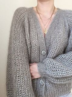 Knitting Patterns Mohair My Favourite Things Mohair Sweater, Sweater Cardigan, Open Cardigan, Knit Cardigan Pattern, Knit In The Round, Pullover, Foto E Video, Types Of Sleeves, Knitwear