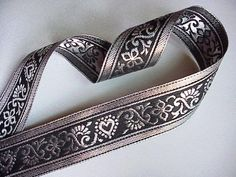 "10 Yards of 1 3/8"" Fancy Metallic Silver/Black Jacquard Ribbon Trim SCA Renaissance Trimsqueen http://www.amazon.com/dp/B00HTQKRU6/ref=cm_sw_r_pi_dp_eT5Nwb1TZC2YA"