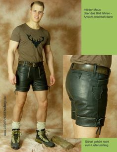 50er-Jahre Lederhose, kurz