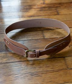 The Warwick Belt // Hand Cut, Oiled and Waxed Vegetable Tanned Leather w/ Brass Hardware